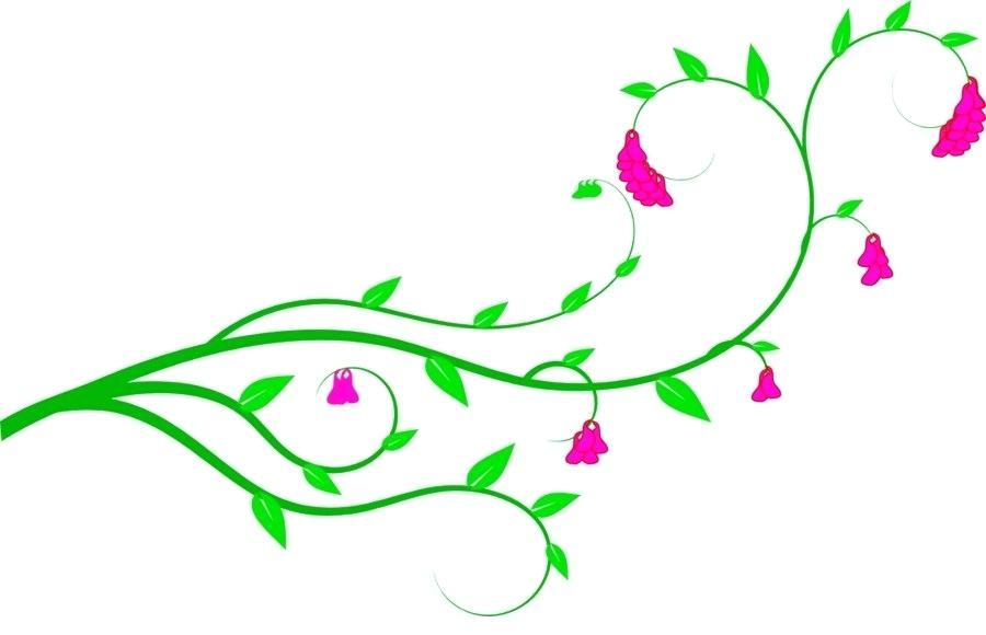 Wedding invitation clip art. Vines clipart easter