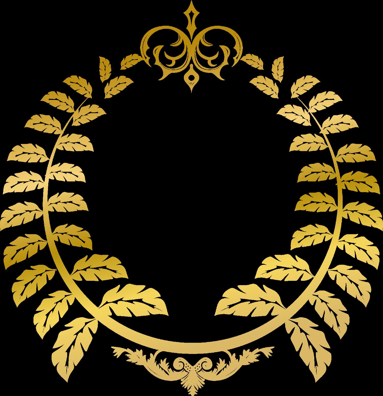 The golden vine sign. Vines clipart gold leaf