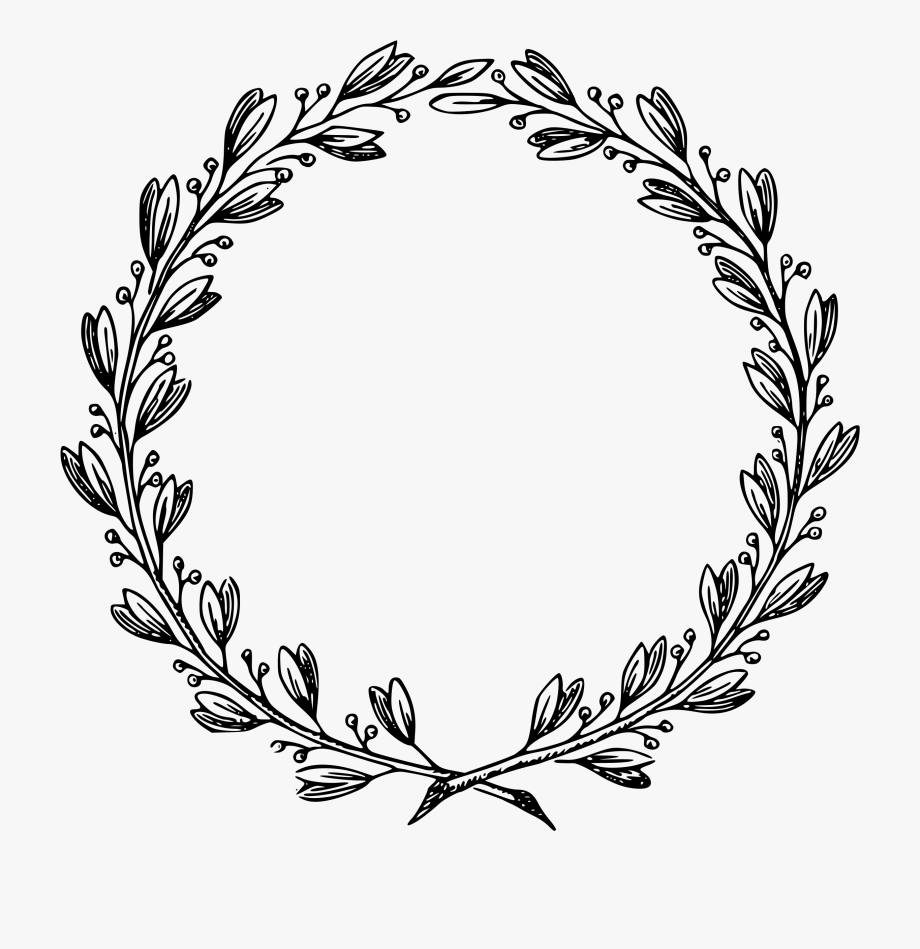 Frame flower black and. Vines clipart hand drawn