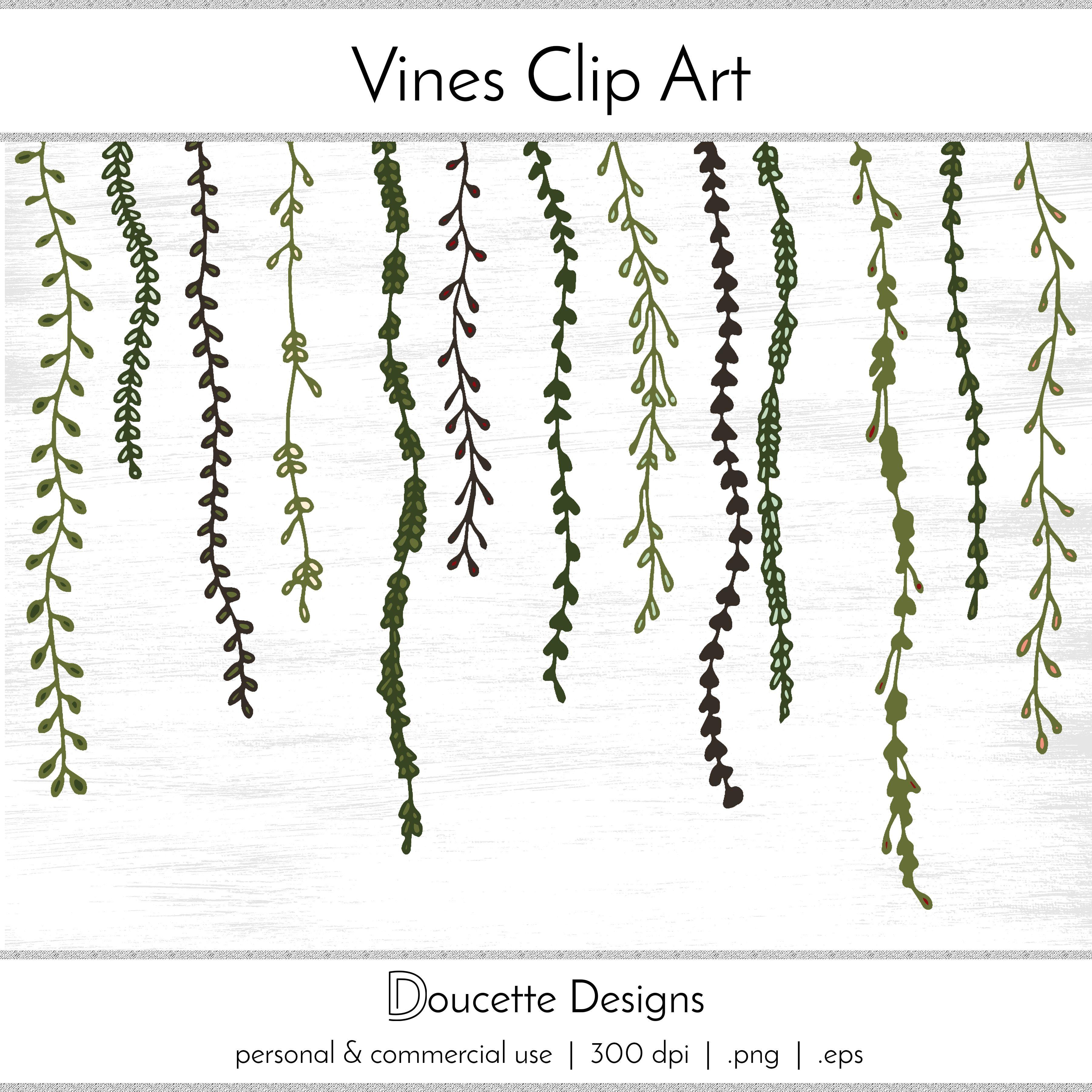 Vines clipart hand drawn. Handdrawn decoration illustration vector