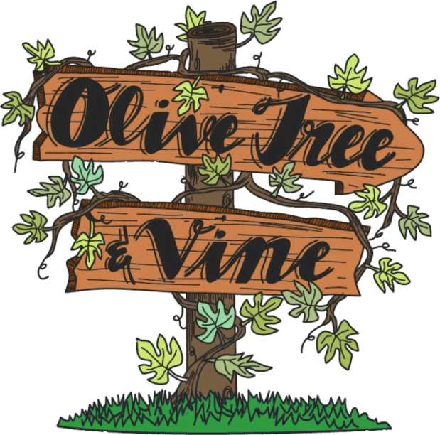 Front page tree and. Vines clipart olive