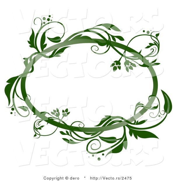 Vines clipart oval. Vector of a blank