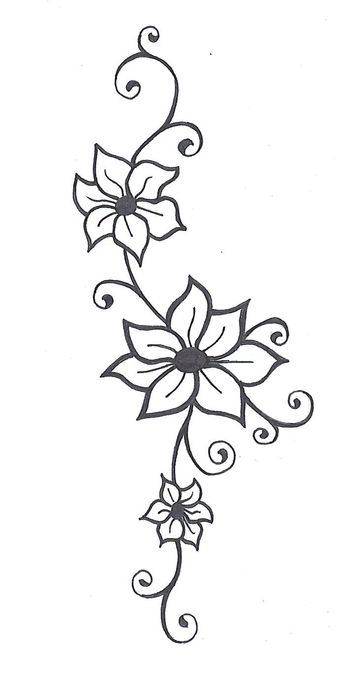 Vines clipart simple. Flower vine drawings images