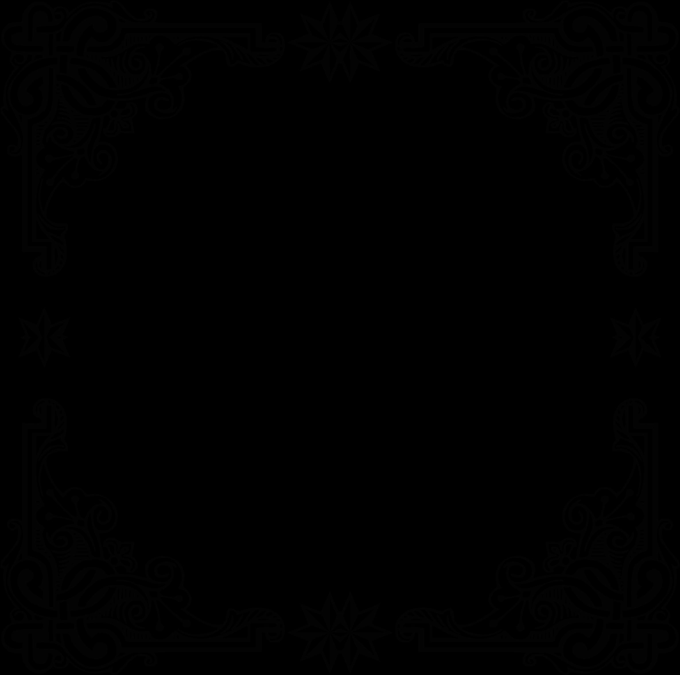 Clipart symmetric big image. Vintage black frame png