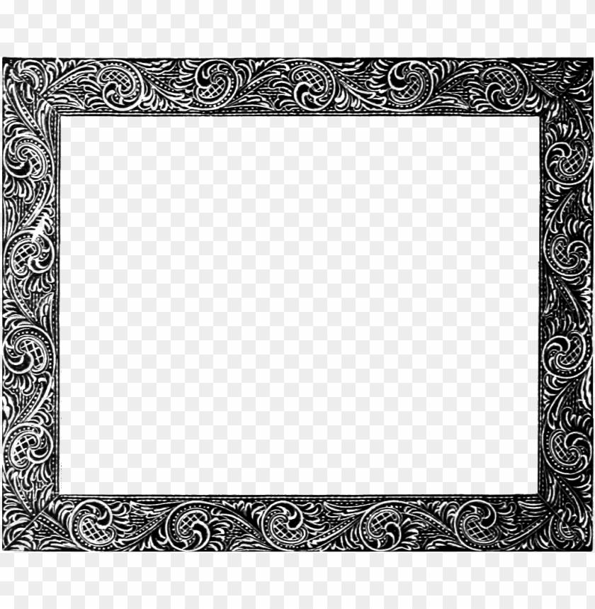 Vintage black frame png. Free images toppng transparent