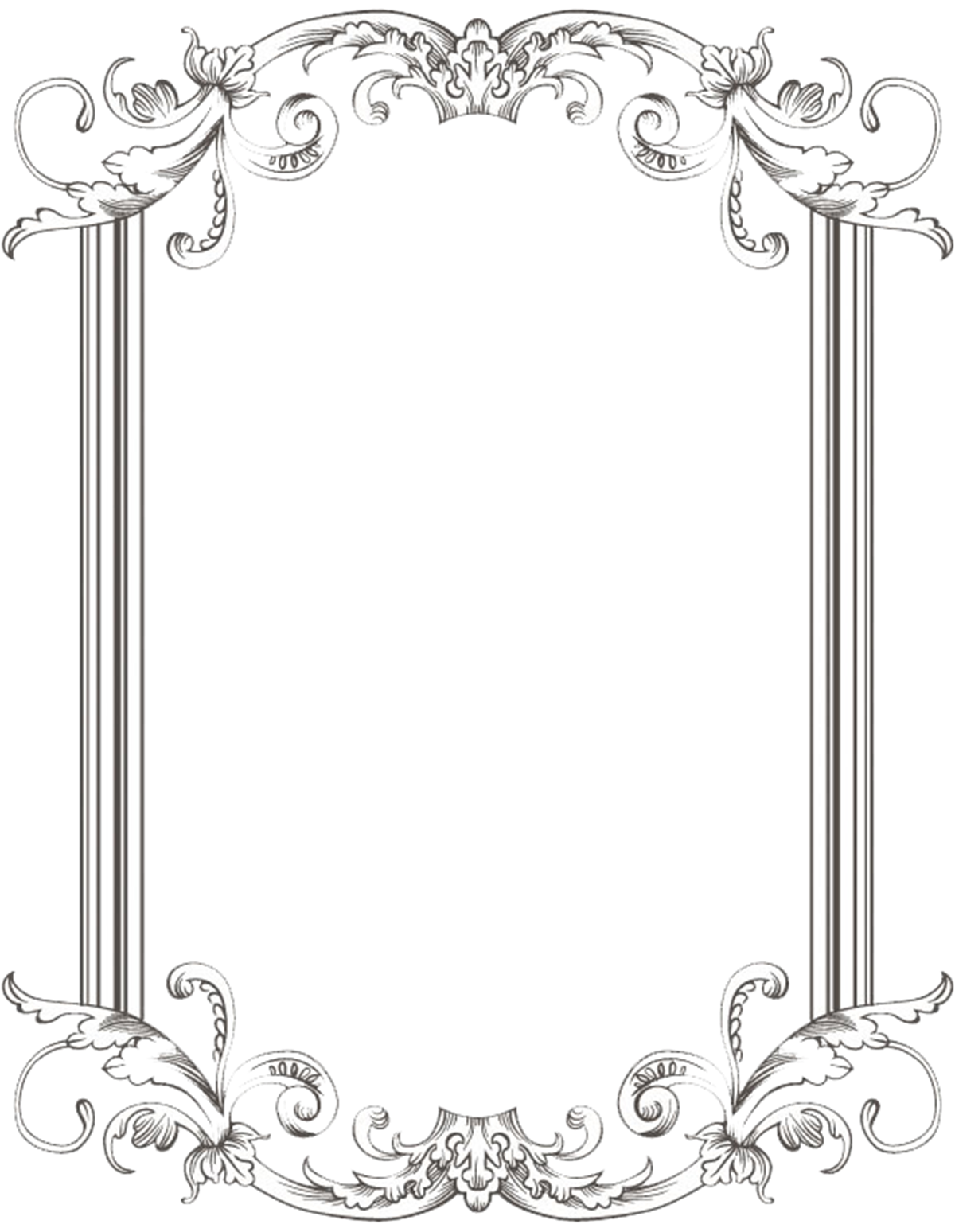 for free download. Vintage black frame png