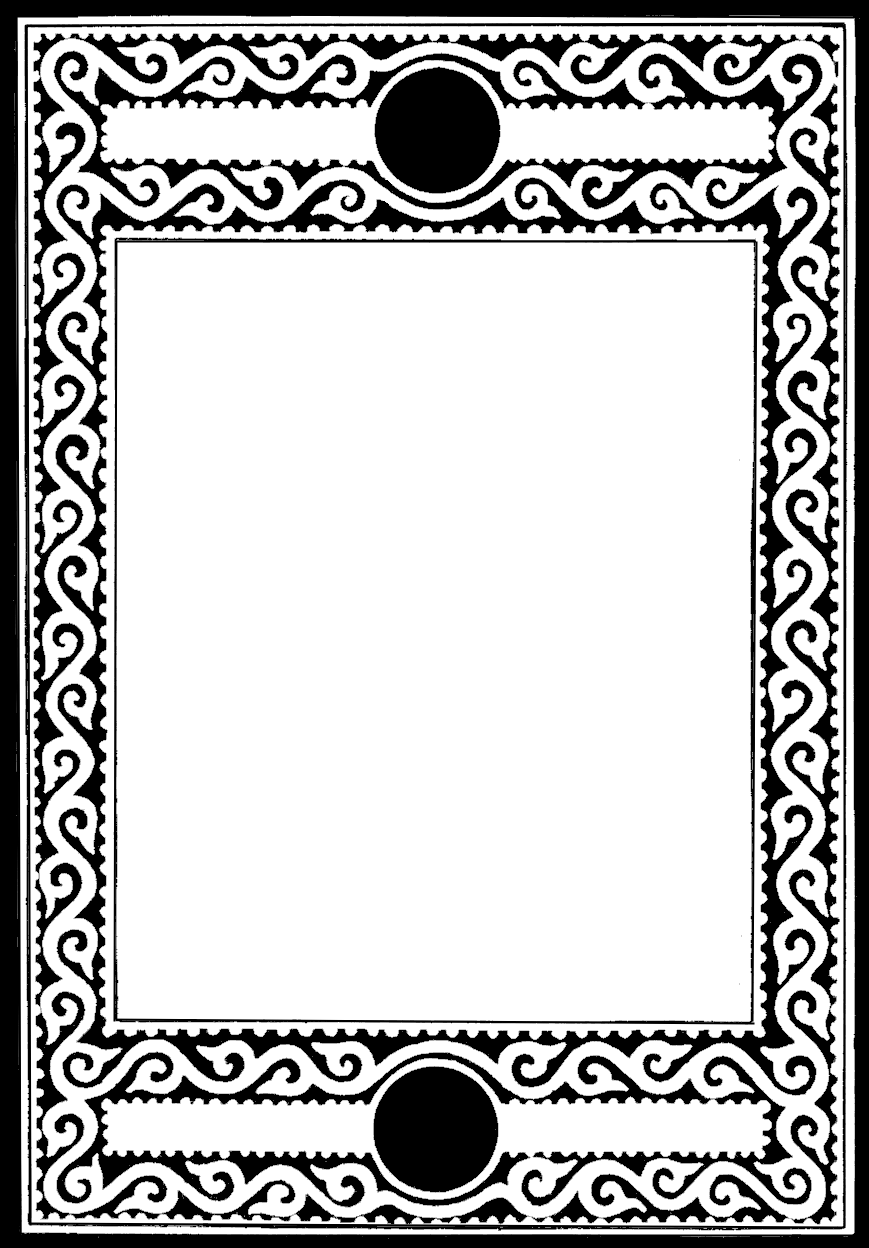 And white for scrapbooking. Vintage black frame png