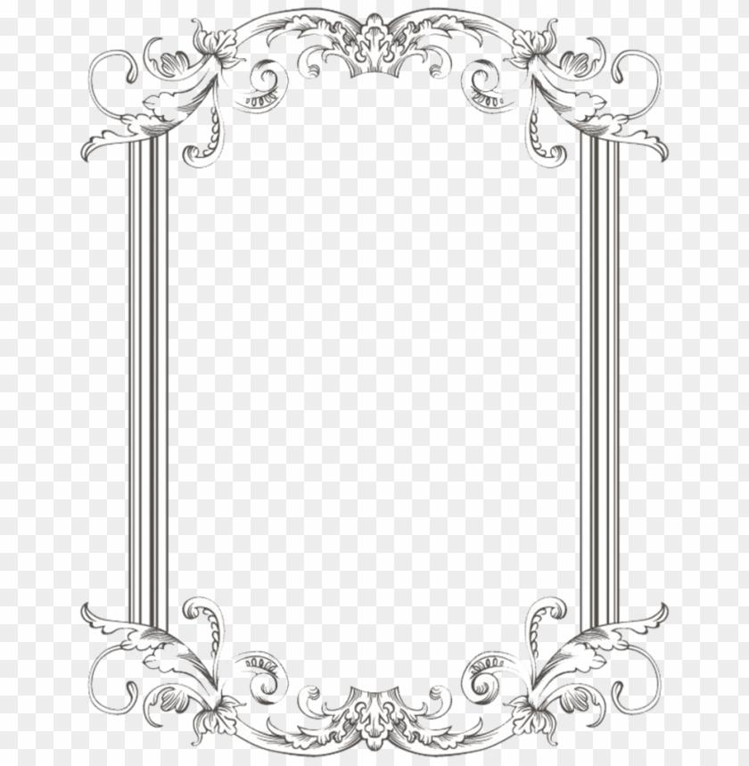 Frame free images toppng. Vintage border png