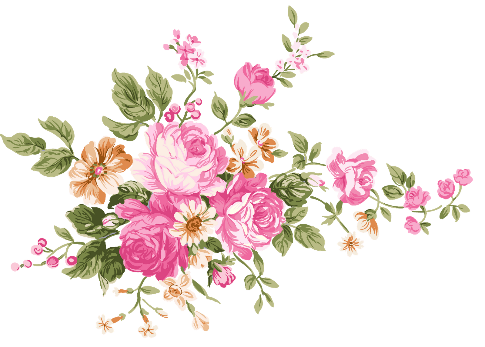 Vintage flower png. Bouquet of flowers transparent