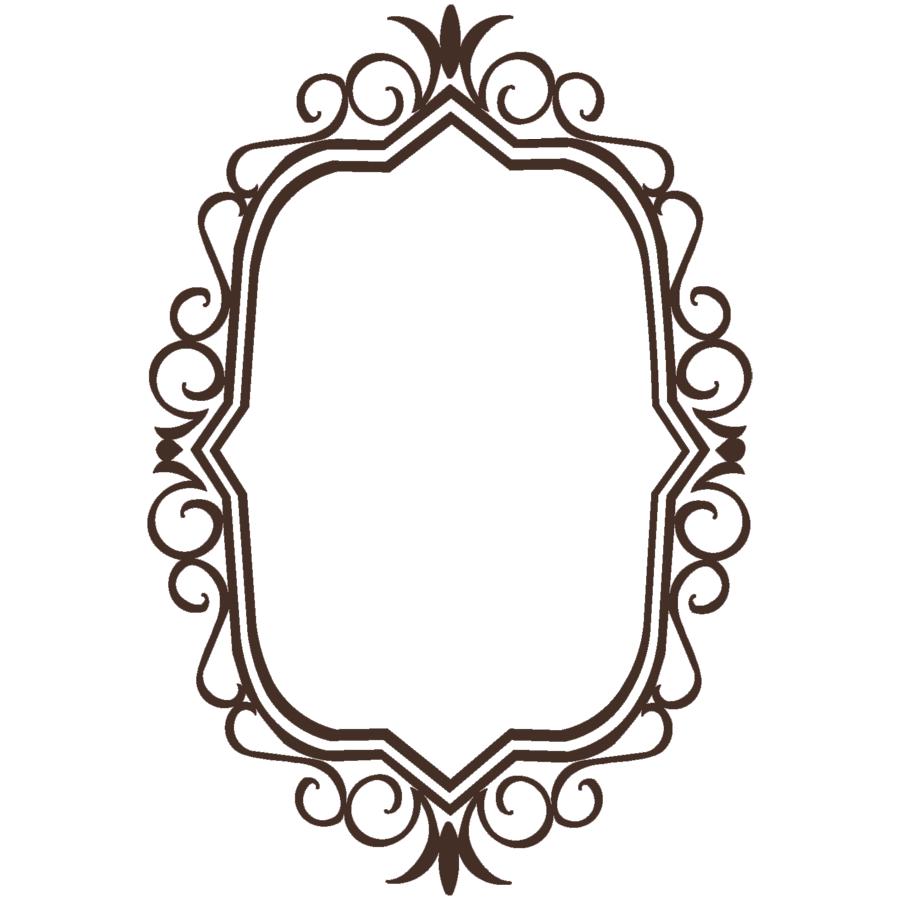 Transparent picture mart. Vintage frame png