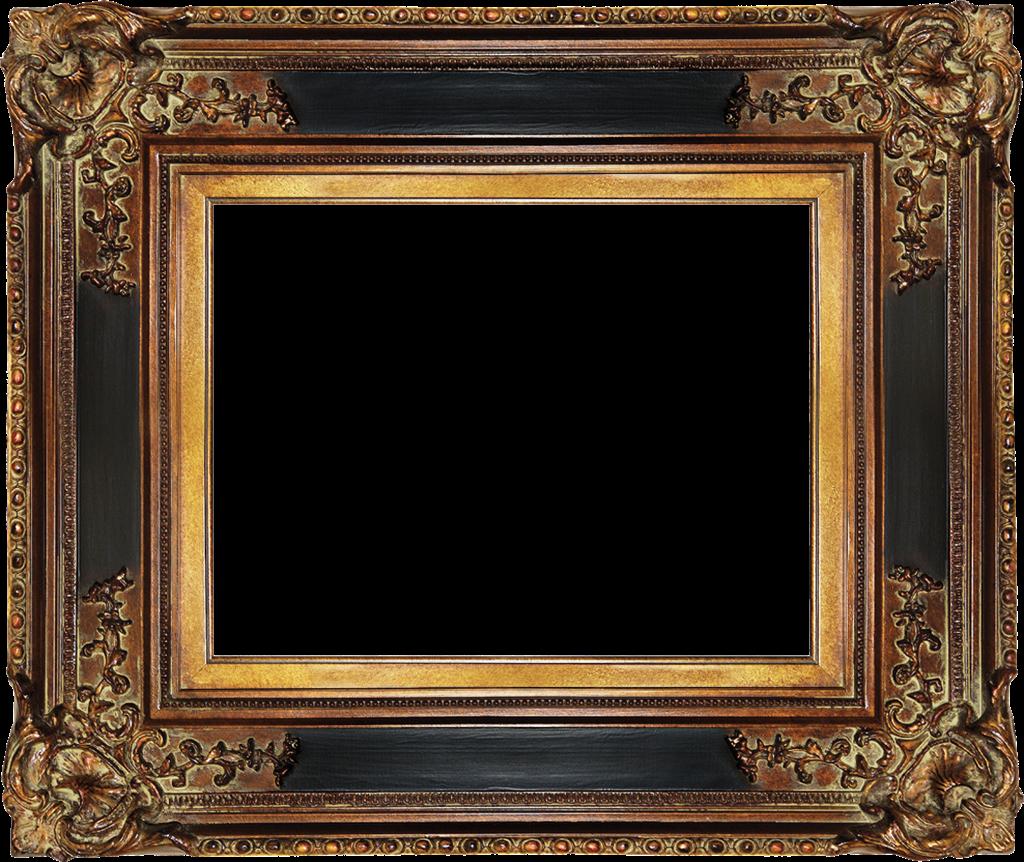 Antique picture frames defr. Vintage gold frame png