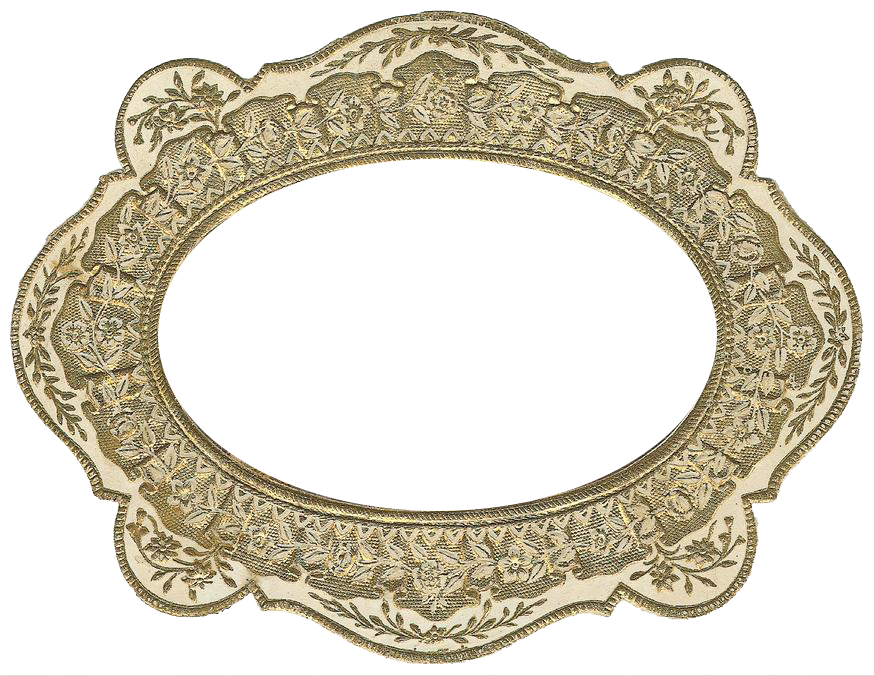 Vintage gold frame png. Free graphic friday avalon