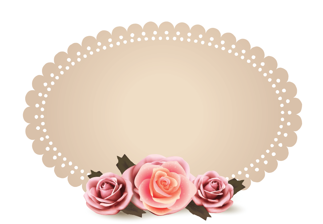 Design free logo roses. Vintage photo frame png