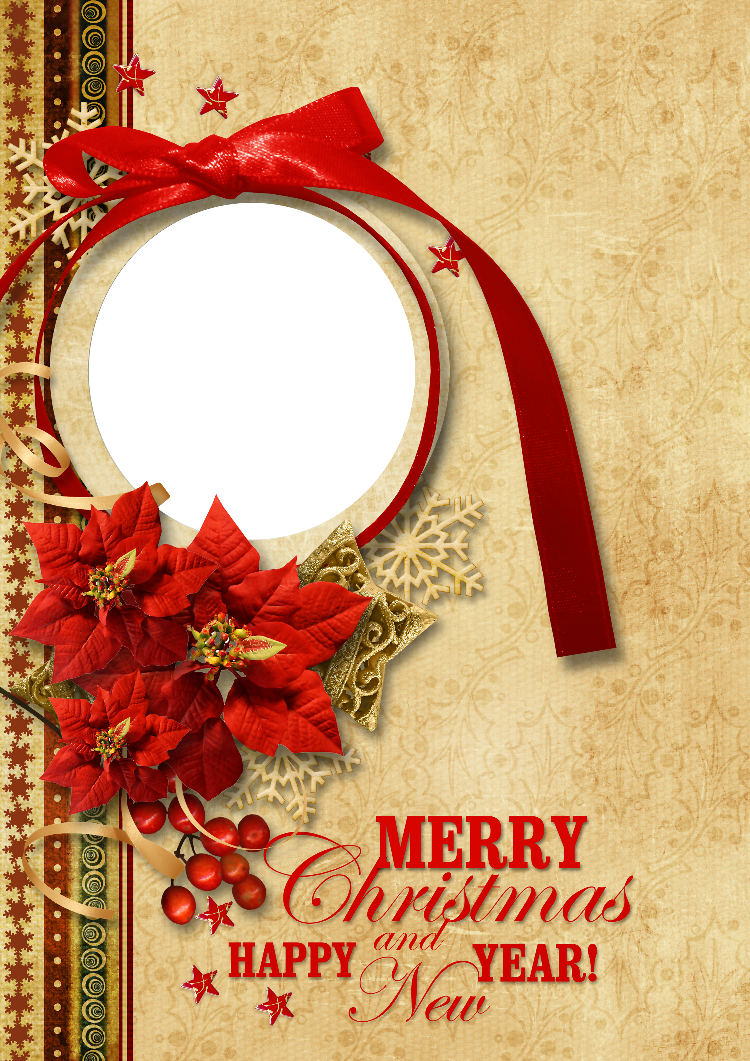 Vintage photo frame png. Christmas style gallery yopriceville