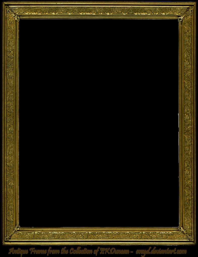 Vintage picture frame png. Antique gold by ekduncan