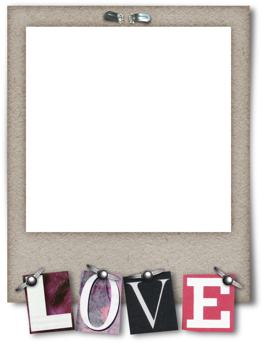 Vintage polaroid frame png. Love by hggraphicdesigns on