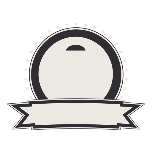 Vintage vector png. Label or badge with