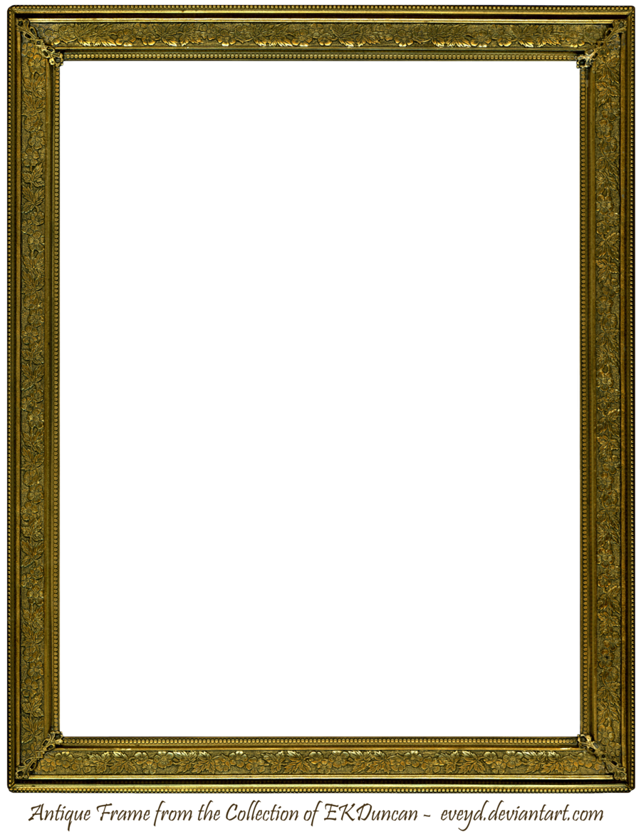 Antique gold by ekduncan. Vintage wood frame png