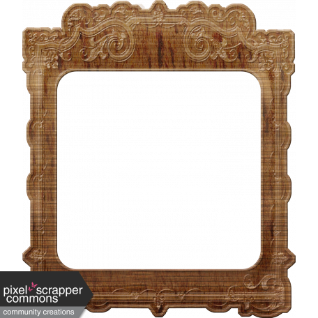 Vintage wood frame png. Mini kit graphic by