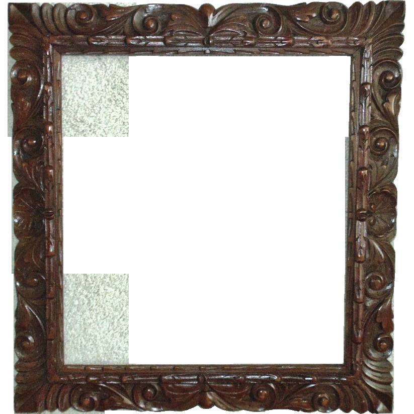 Image. Vintage wood frame png