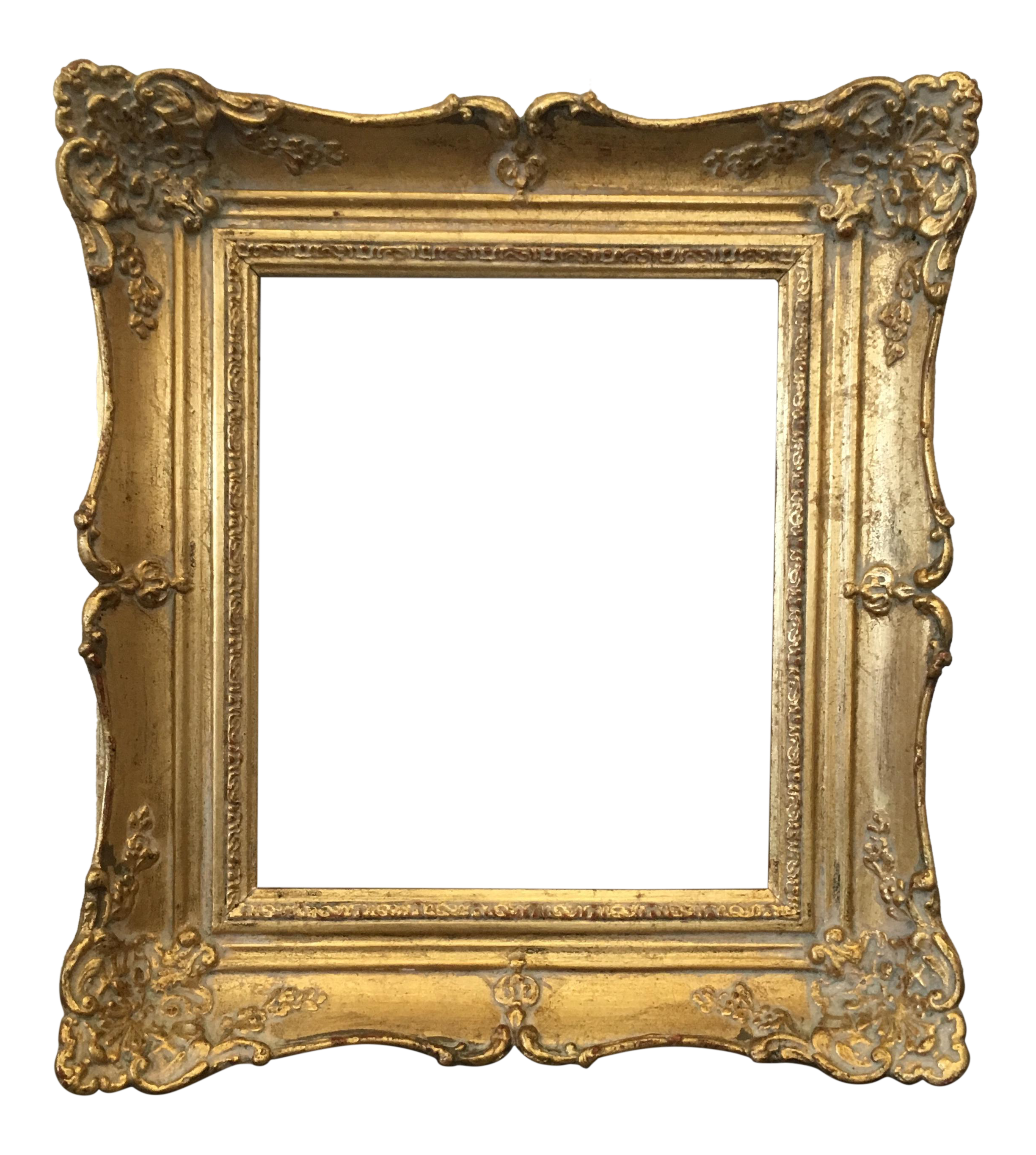 Vintage wood frame png. Gold carved chairish
