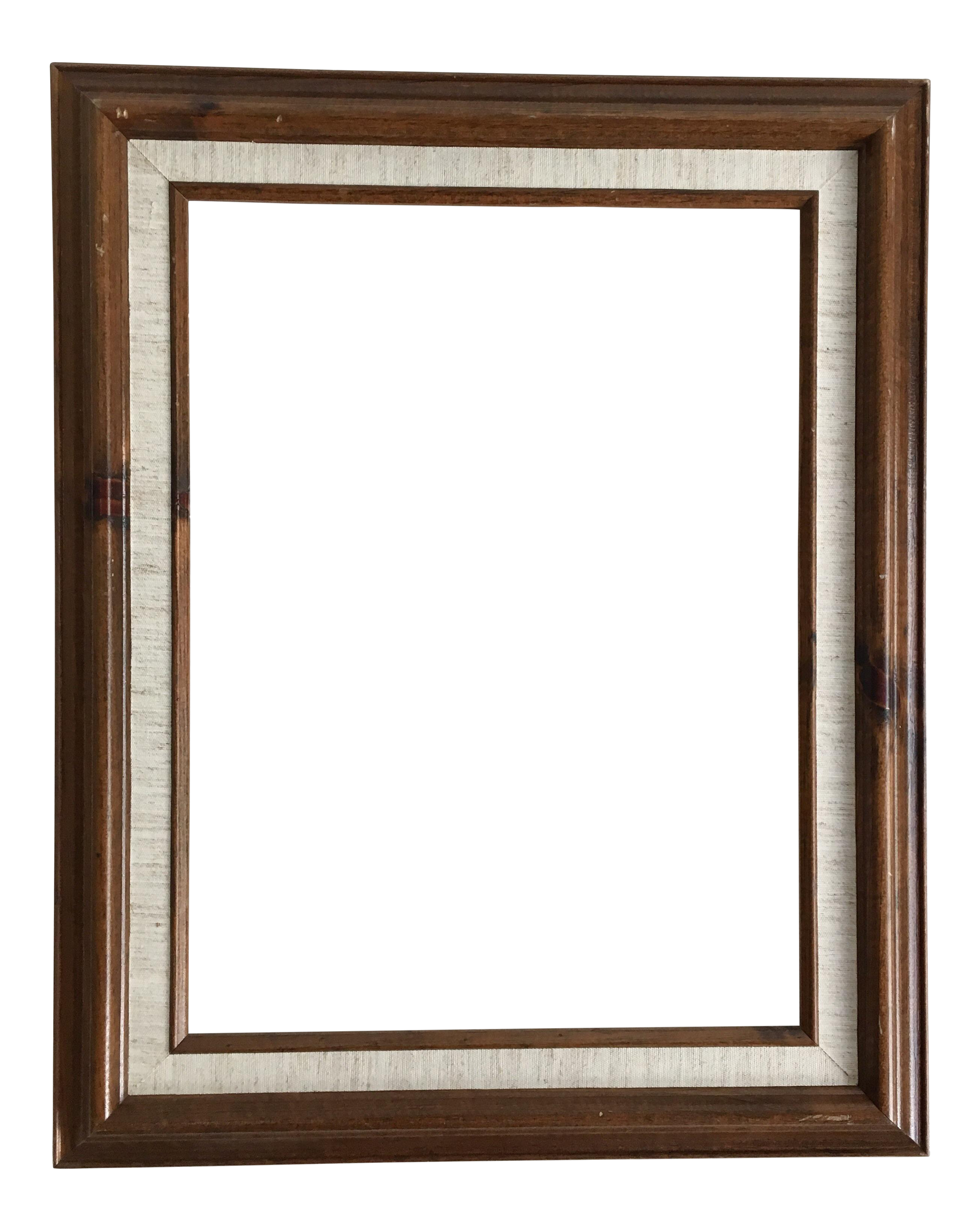 Linen chairish . Vintage wood frame png