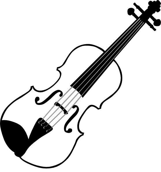 Black and white panda. Violin clipart