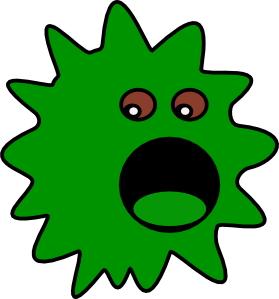 Virus clipart. Green clip art at
