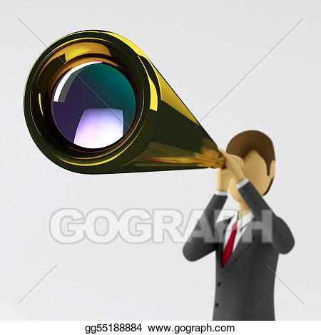 Vision clipart. Stock illustration business gg