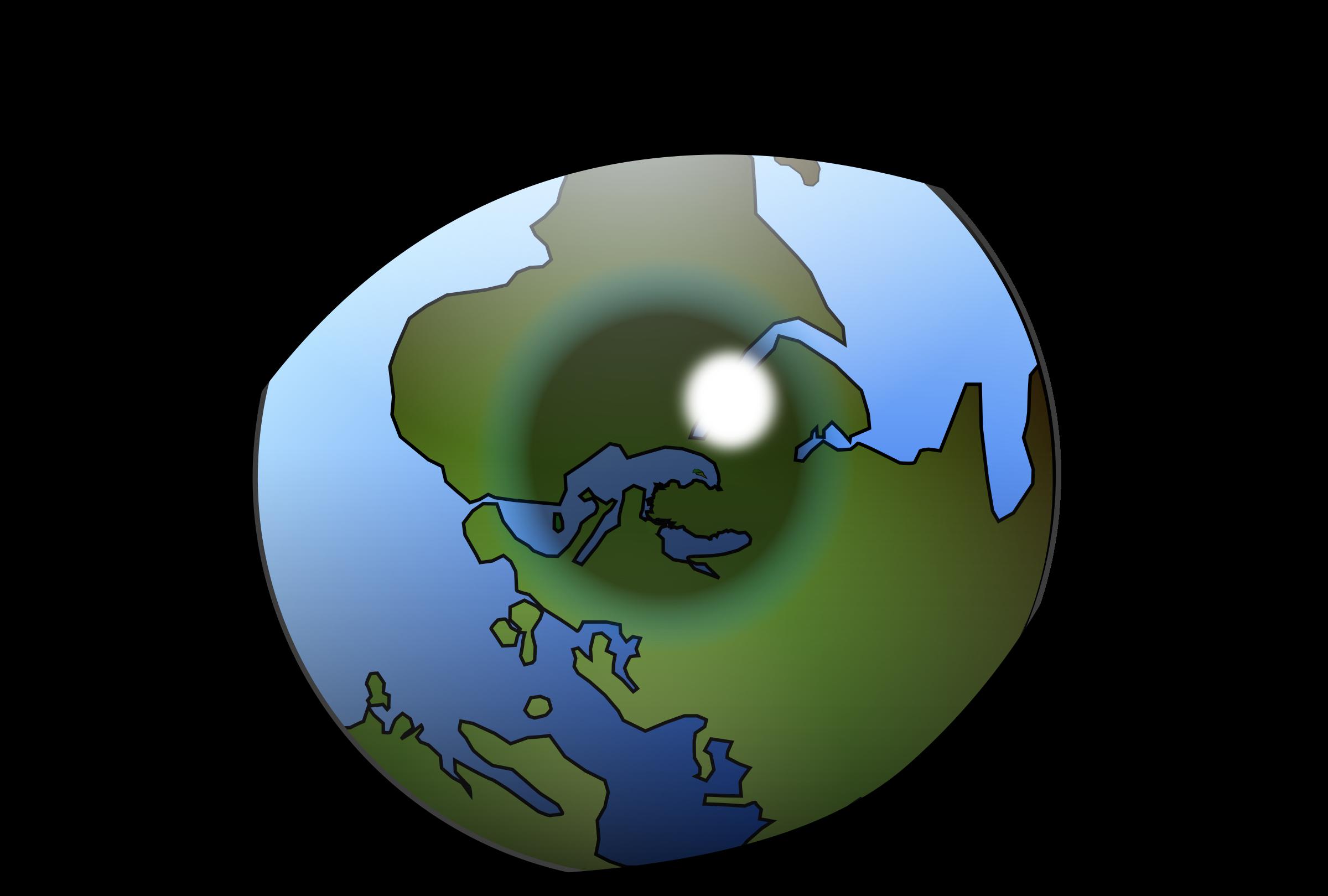 Alternative world big image. Vision clipart