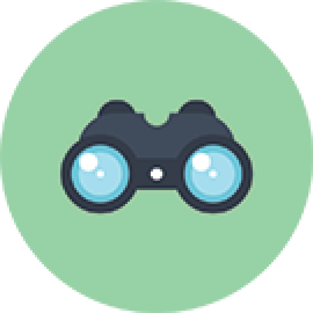 Computer icons mission statement. Vision clipart binoculars