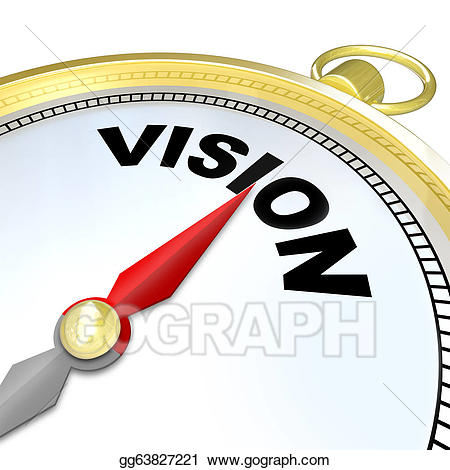 Stock illustrations word on. Vision clipart future direction