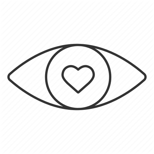Vision clipart heart eye.  ophthalmology linear outline