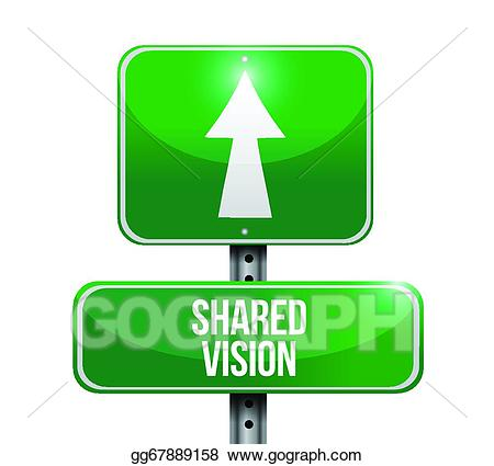 Vision clipart shared vision. Vector road sign illustration