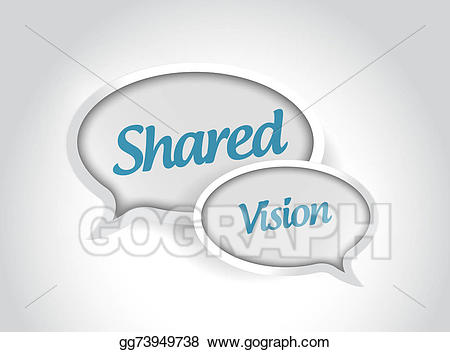 Message bubbles illustration design. Vision clipart shared vision