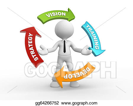 Vision clipart strategy. Stock illustration gg gograph