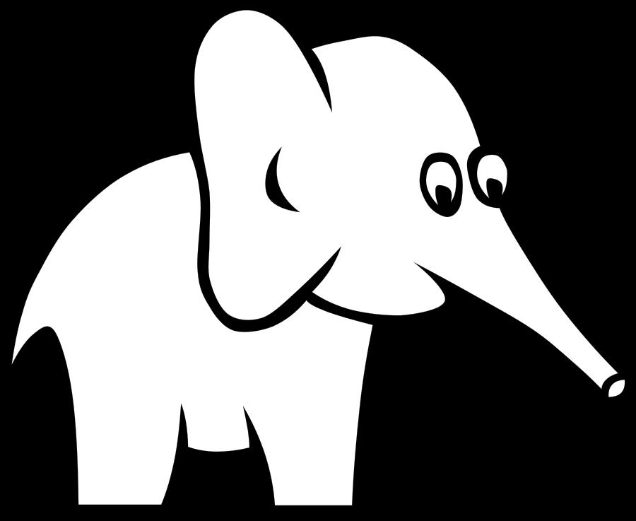 Vision clipart vector. Certain elephant clip art