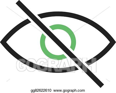 Vector illustration off eps. Vision clipart visibility