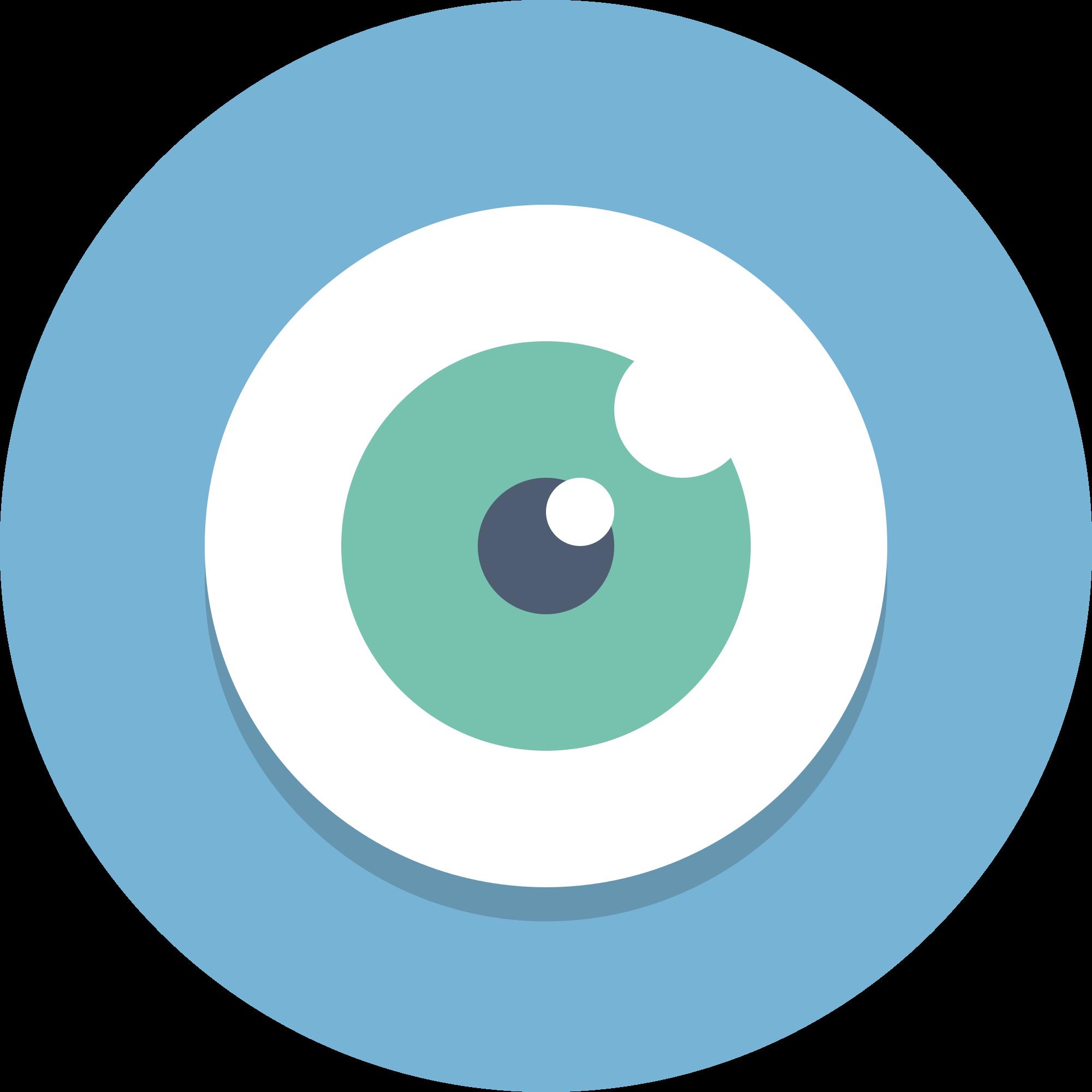 File circle icons eye. Vision clipart vision problem