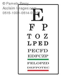 Clip art illustration of. Vision clipart vision test