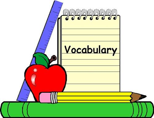 Clark alyce rd grade. Vocabulary clipart