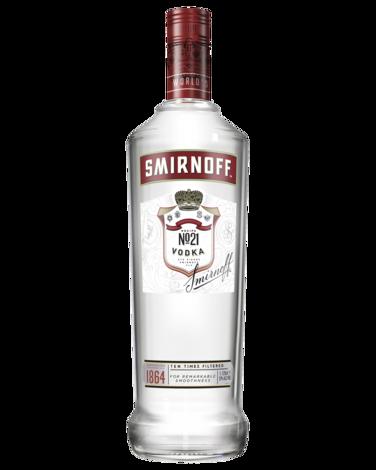 Buy smirnoff red label. Vodka bottle png
