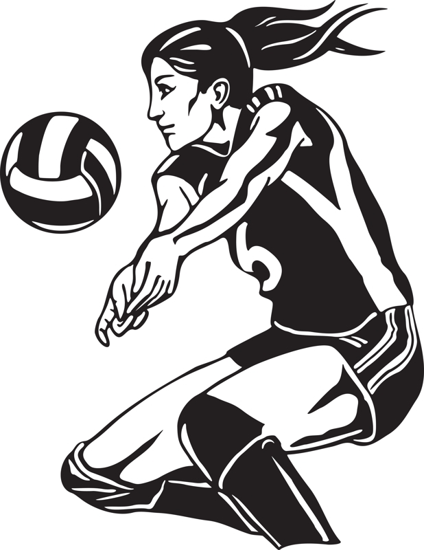 Volleyball clipart action. Free old cliparts download
