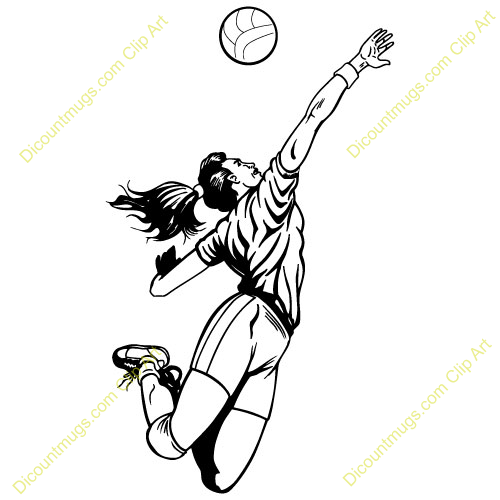 . Volleyball clipart attack