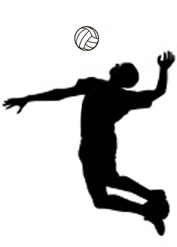 Volleyball clipart attack.