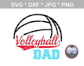 Svg etsy . Volleyball clipart dad