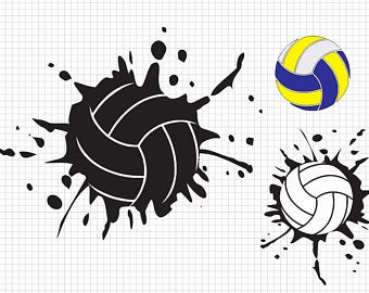 Volleyball clipart dad. Svg etsy