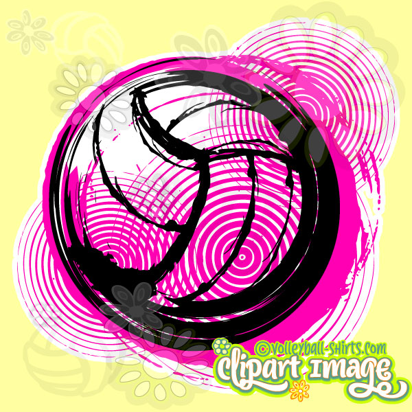 Distressed unique library . Volleyball clipart design