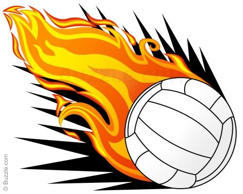 Volleyball clipart easy. Flaming step final drawings