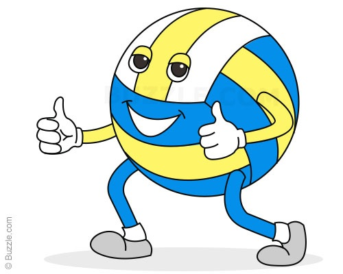 Steps to draw a. Volleyball clipart easy